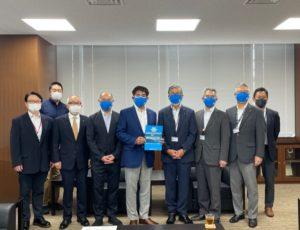湘南ユナイテッドBC 藤沢市長、副市長をはじめとする行政関係者へ、B3リーグ参入に向けて最大の関門であった「一次審査合格」の報告をさせていただきました。